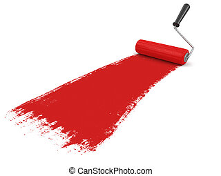 Paint roller. Image with clipping path