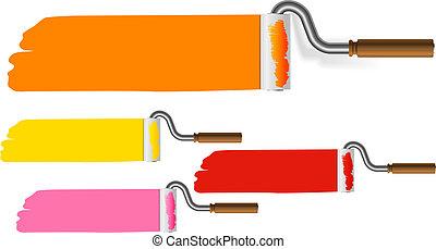 Paint roller web template
