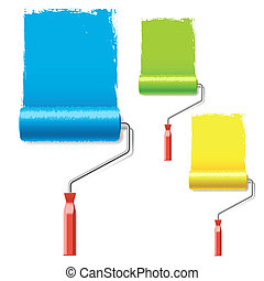 Vector illustration of a paint rollers
