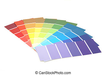 Paint Samples - A spectrum of colorful paint samples.