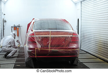 Paint shop - Car repair in an auto shop