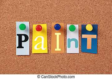 Paint Single Word