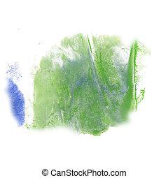 paint splash color blue green ink blue red watercolor isolated stroke splatter watercolour aquarel brush