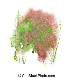 paint splash color pink green ink blue red watercolor isolated stroke splatter watercolour aquarel brush