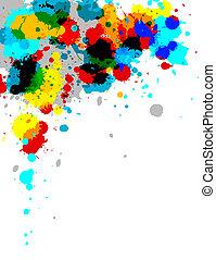 Paint Splash - Illustration of multi-colored paint splashes...