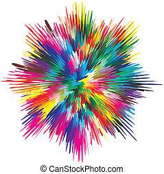 Paint splash - Vector splash illustrating the concept of...