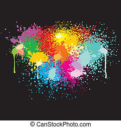 Paint Splashes - Background with paint splats for your text