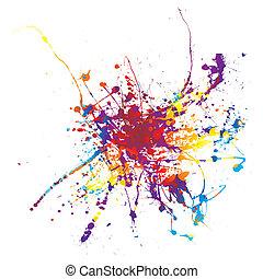 paint splat rainbow