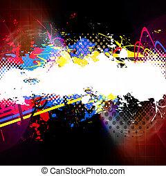 Paint Splatter Layout