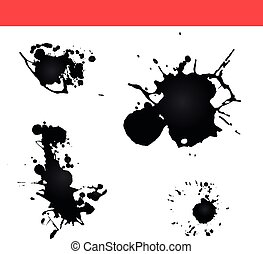 Paint splatter vector. Splash ink