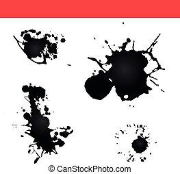 Paint splatter vector. Splash ink