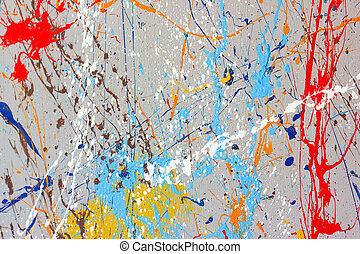 Paint Splatters - Colorful splashes of paint for background