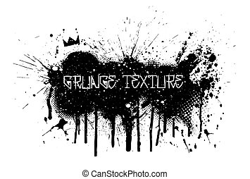 Paint spray and splatter texture in grunge style