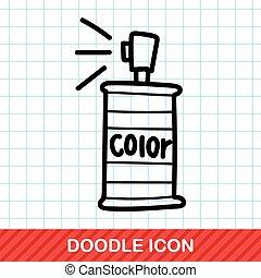 paint spray color doodle