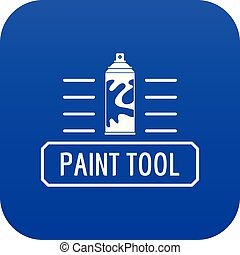 Paint spray icon blue vector