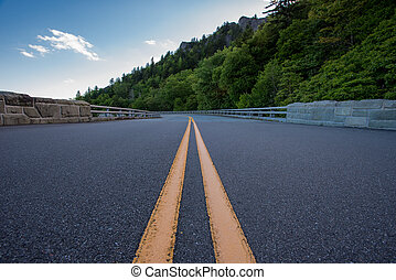 Paint Stripe on Blue Ridge Parkway