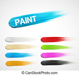Paint strokes - Colorful paint strokes. gradient mesh, eps...