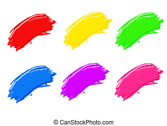 paint strokes - paint brush strokes in all different colors