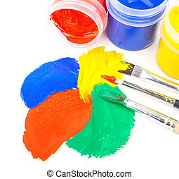 Paint strokes with brushes