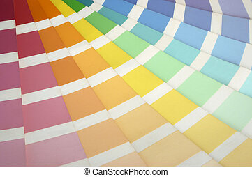 Paint Swatch - A paint swatch fanned out to reveal different...