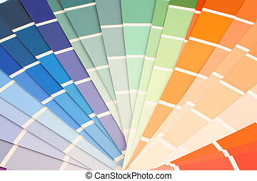 rainbow paint paper swatches for home decorating