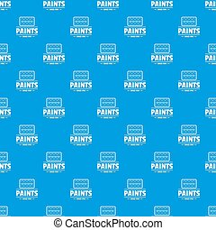 Paint tool pattern seamless blue