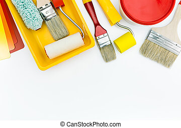 paint tools and accessories for home renovation