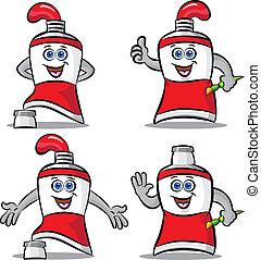Paint tube mascot