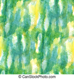 paint watercolor green yellow seamless water color texture with spots and streaks art