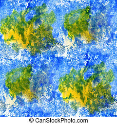 paint watercolor seamless blue green yellow water color texture with spots and streaks art