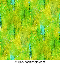 paint watercolor yellow green seamless water black color texture with spots and streaks art