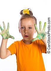 paint with finger paints