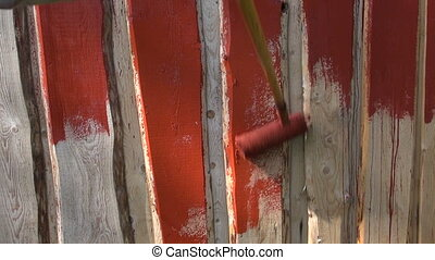 paint wooden farm barn wall