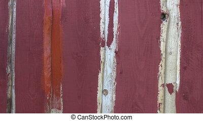 paint wooden farm house wall