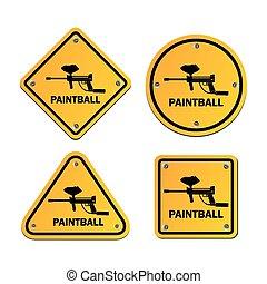 paintball, サイン