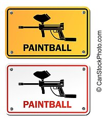 paintball, -, 長方形, サイン