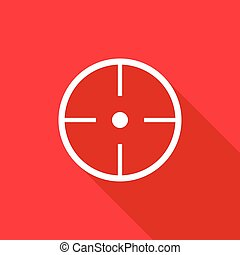 Paintball aim icon, flat style