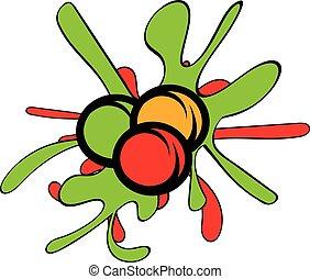 Paintball balls icon cartoon