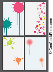 paintball banners - vector illustration of set of four...