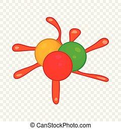 Paintball blob icon in cartoon style
