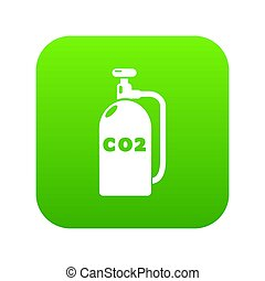 Paintball carbon dioxide icon green