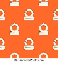 Paintball field tire barricade pattern vector orange
