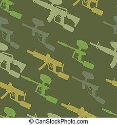 paintball guns seamless pattern