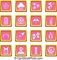 Paintball icons pink