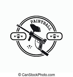 paintball label, emblem and design