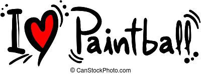 Paintball love - creative design of paintball love