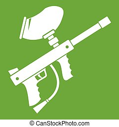 Paintball marker icon green