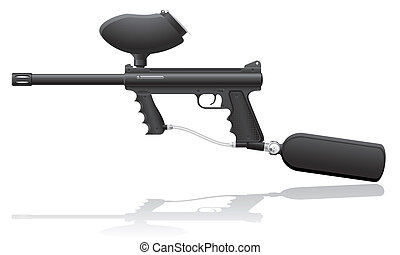 paintball markers vector illustration