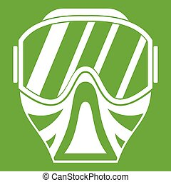 Paintball mask icon green