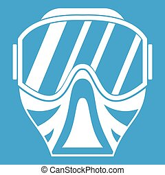 Paintball mask icon white